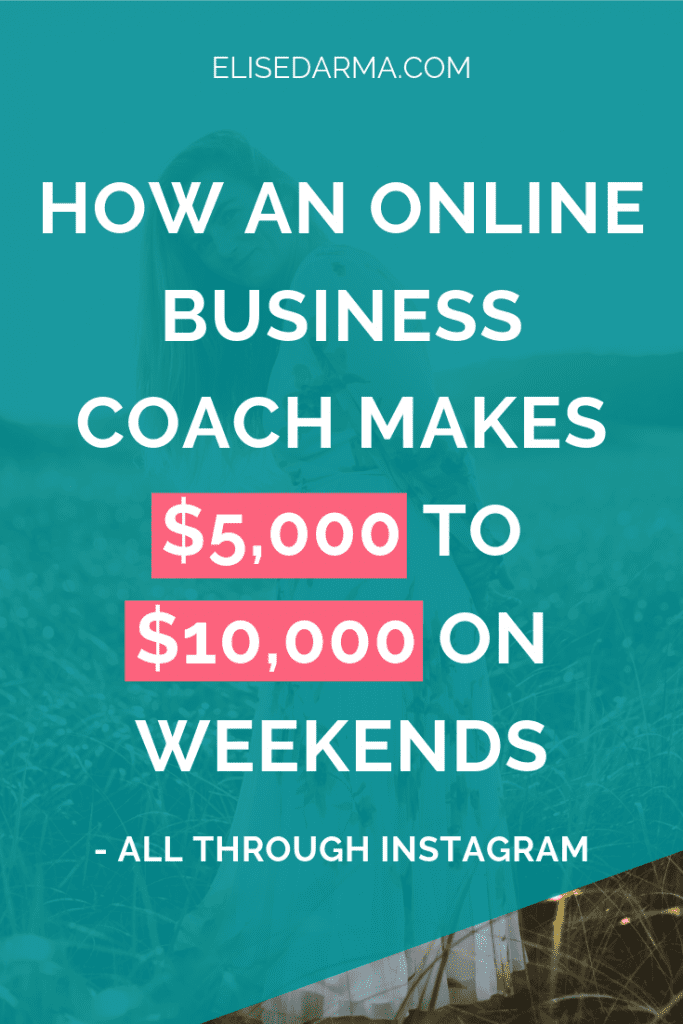 online business coach case study pin