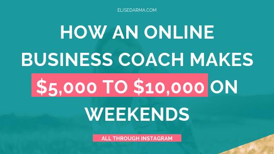 elise darma online business coach case study